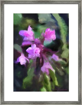 Philippine Orchid Abstact Framed Print by Kerri Ligatich