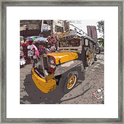 Philippines 1261 Jeepney Framed Print