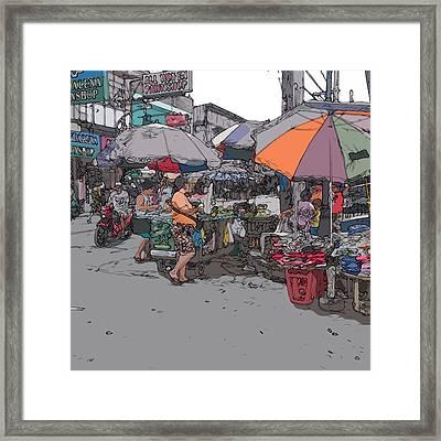 Philippines 708 Market Framed Print