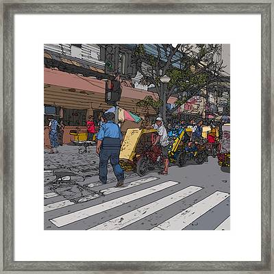 Philippines 906 Crosswalk Framed Print by Rolf Bertram