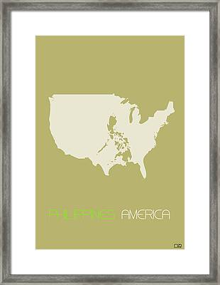 Philippines America Poster Framed Print
