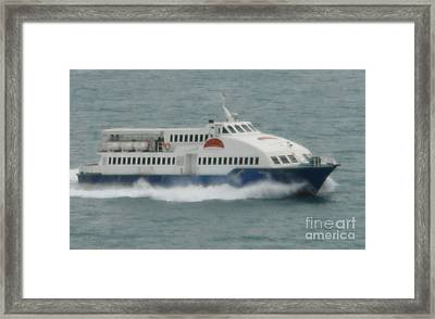 Philippines Island Ferry Framed Print by Mike Holloway
