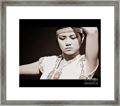 Philippino Dancer Framed Print