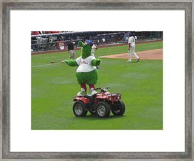 Phillie Phanatic Framed Print by Jennifer  Sweet