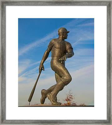 Phillies Batter Framed Print by Bill Cannon