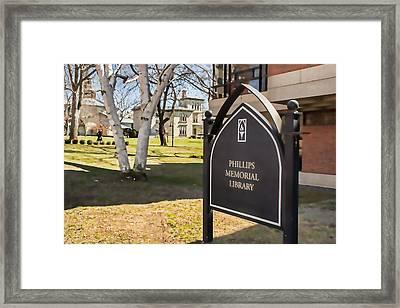 Phillips Memorial Library Providence College, Artistic Framed Print by Nancy De Flon