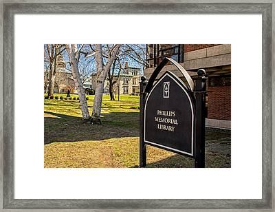 Phillips Memorial Library Providence College Framed Print by Nancy De Flon
