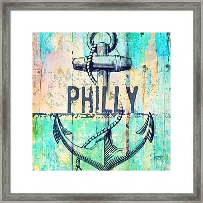 Philly Anchor 2 Framed Print