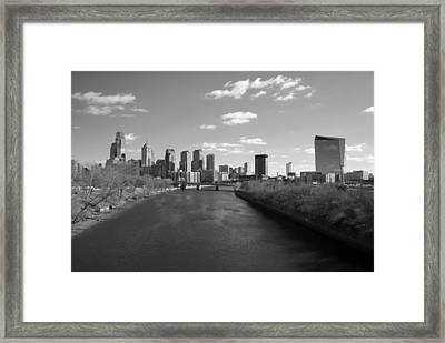 Philly B/w Framed Print by Jennifer Ancker