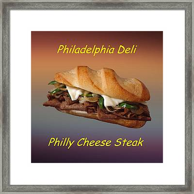 Philly Cheese Steak Customized  Framed Print by Movie Poster Prints