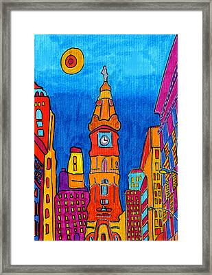 Philly From The Window Framed Print