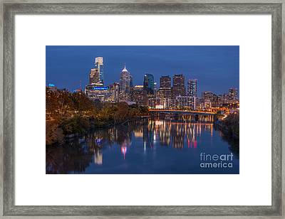 Philly Halloween Night Framed Print by Abe Pacana