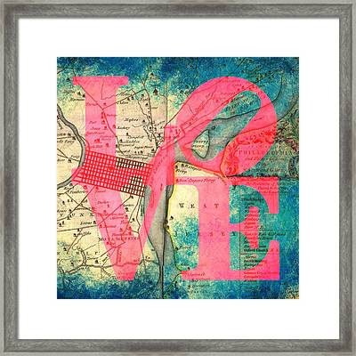 Philly Jersey Love Framed Print by Brandi Fitzgerald