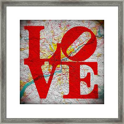 Philly Love V1 Framed Print