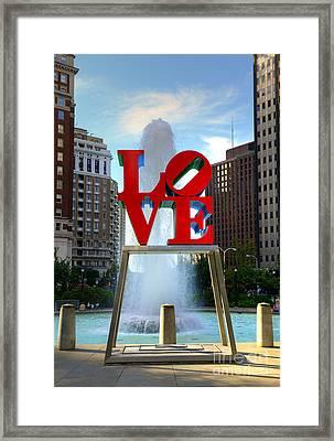 Philly Love Framed Print