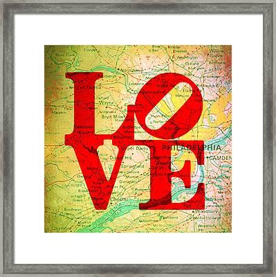 Philly Love V12 Framed Print