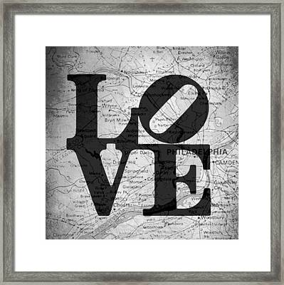 Philly Love V13 Framed Print