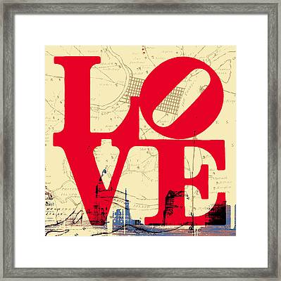 Philly Love V3 Framed Print
