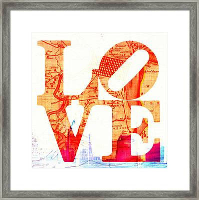 Philly Love V4 Framed Print by Brandi Fitzgerald