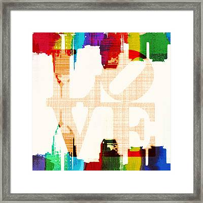 Philly Love V5 Framed Print