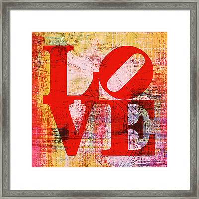 Philly Love V6 Framed Print