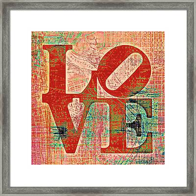 Philly Love V7 Framed Print