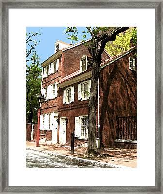 Philly Row House 2 Framed Print by Paul Barlo