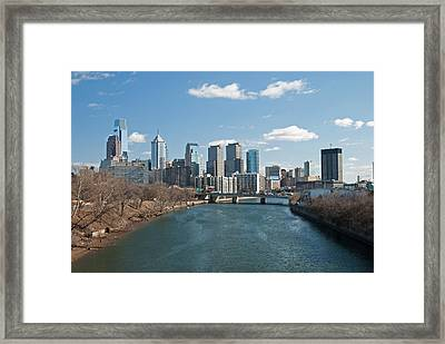 Philly Winter Framed Print by Jennifer Ancker