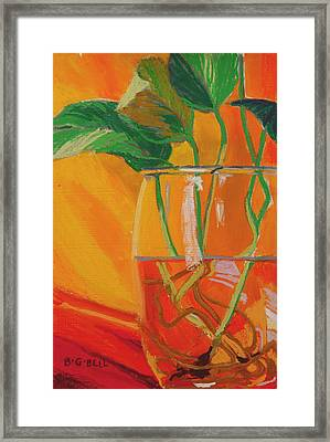 Philodendron In Glass Framed Print