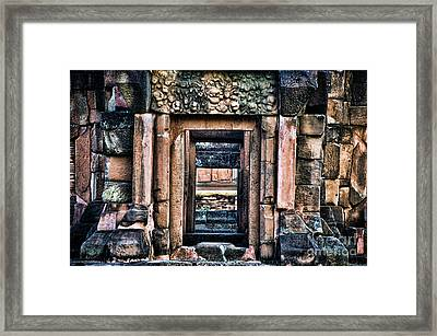 Phimai Khmer Doorway Framed Print by Ray Laskowitz - Printscapes