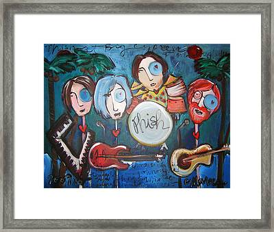 Phish At Big Cypress Framed Print by Laurie Maves ART