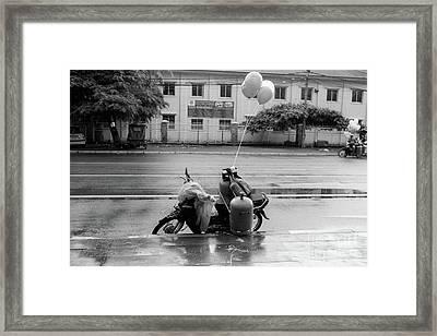 Phnom Penh Balloon Salesman Framed Print