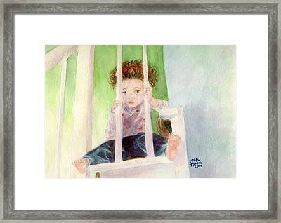 Framed Print featuring the painting Phoebe by Andrew Gillette
