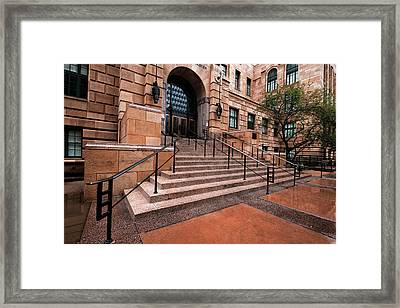 Framed Print featuring the photograph Phoenix Arizona Courthouse by Dave Dilli