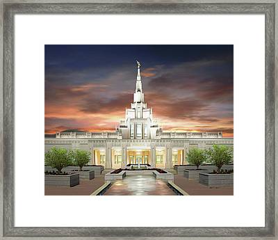 Phoenix Arizona Temple Framed Print by Brent Borup