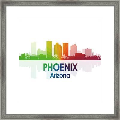 Phoenix Az 1 Squared Framed Print by Angelina Vick