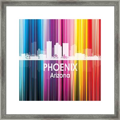 Phoenix Az 2 Squared Framed Print by Angelina Vick