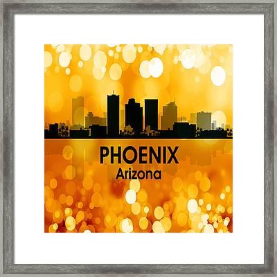 Phoenix Az 3 Squared Framed Print by Angelina Vick