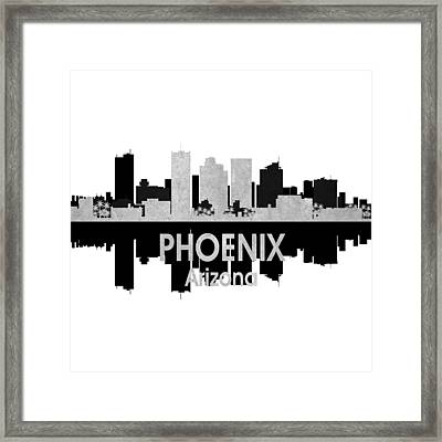 Phoenix Az 4 Squared Framed Print by Angelina Vick