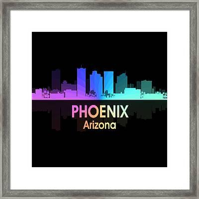 Phoenix Az 5 Squared Framed Print by Angelina Vick