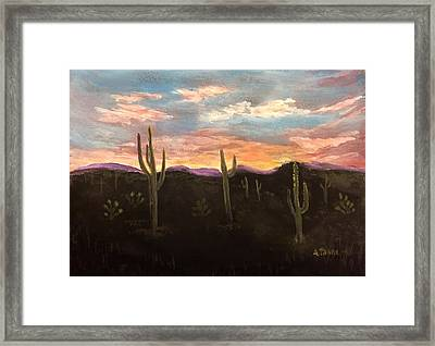 Phoenix Az Sunset Framed Print