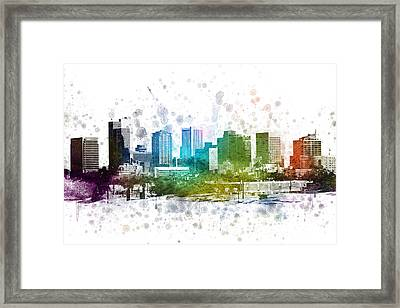 Phoenix Arizona In Color 02 Framed Print by Aged Pixel