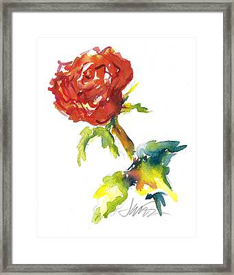 The Phoenix Rose Framed Print