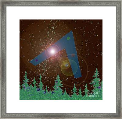 Framed Print featuring the painting Phoenix Lights Ufo by James Williamson