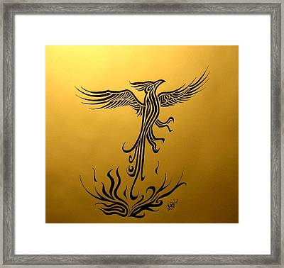 Framed Print featuring the drawing Phoenix by Michelle Dallocchio