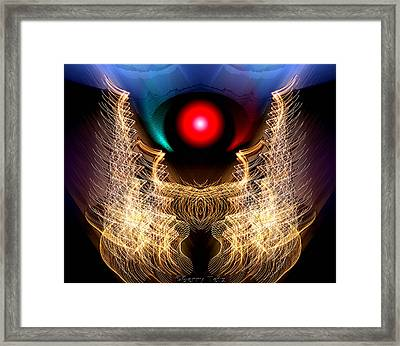 Phoenix On Fire Framed Print