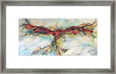 Framed Print featuring the painting Phoenix Rainbow by Christy Freeman