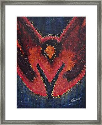 Phoenix Rising Original Painting Framed Print