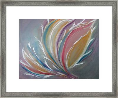 Framed Print featuring the painting Phoenix Rising by Sharyn Winters