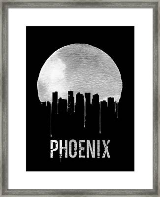Phoenix Skyline Black Framed Print by Naxart Studio